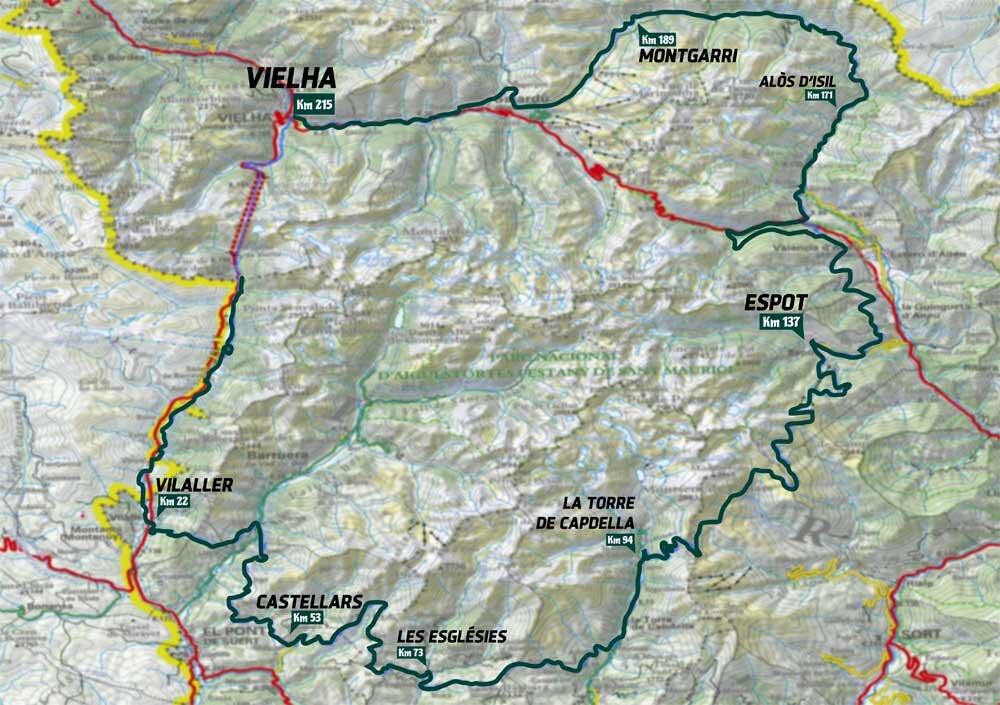Pedals de Foc mapa ruta